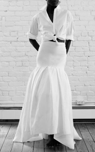 Medium rosie assoulin white brush skirt