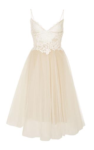Medium monique lhuillier white floral bodice kylie dress