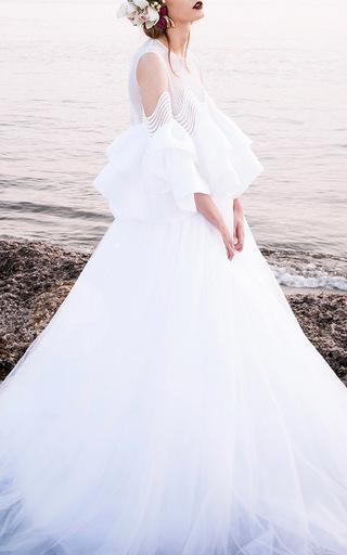 Medium costarellos off white full tulle skirt