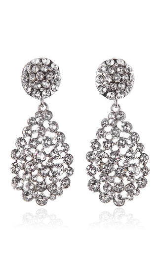Medium oscar de la renta silver classic teardrop c earrings