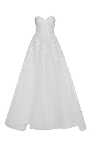 Medium reem acra ivory claudia gown