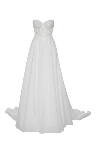 Medium reem acra ivory angelica gown