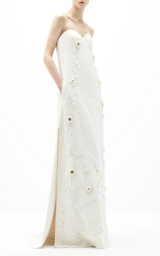 Medium delpozo white applique dress
