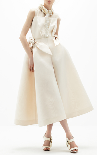 Medium delpozo off white cropped wide legged pants