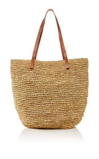 Medium heidi wynne khaki st barths raffia beach bag 2