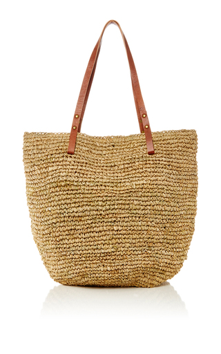 Medium heidi wynne khaki st barths raffia beach bag 2