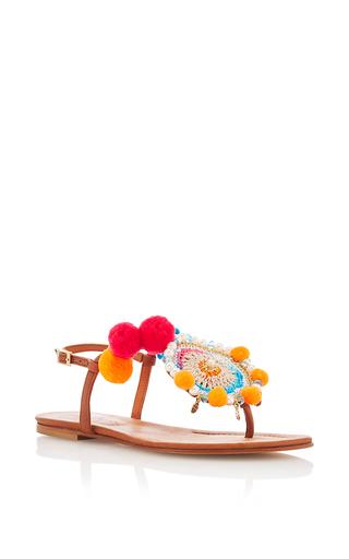 Medium alameda turquesa multi paprika sandal