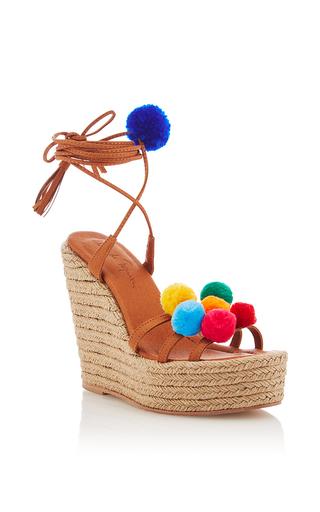 Medium alameda turquesa tan holi wedged sandal
