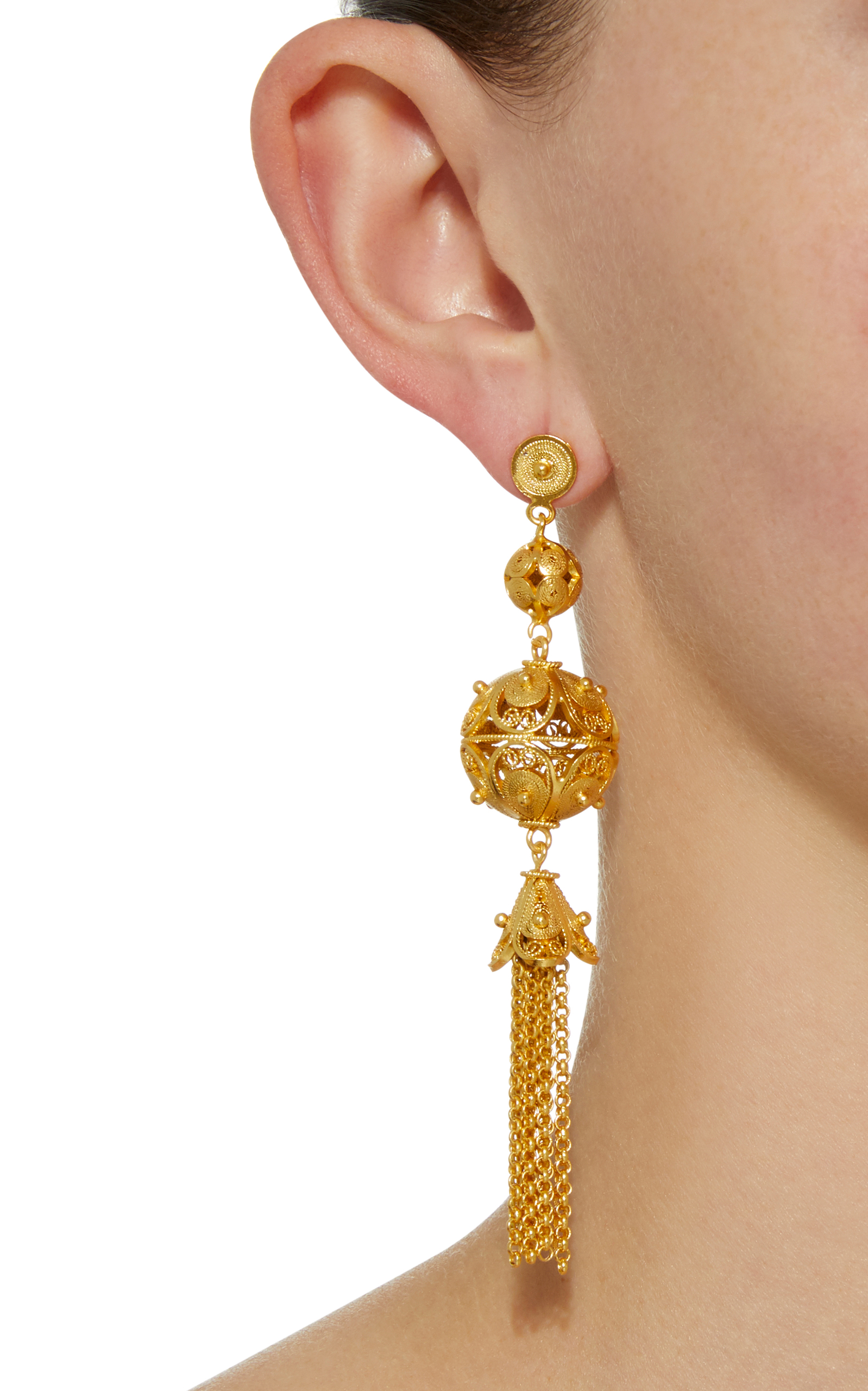 Professional Online Classic Sale Online Gala Embellished Ball and Tassel Earrings Mallarino Free Shipping Geniue Stockist 2018 Unisex Cheap Online Pay With Visa Sale Online agMVfzY