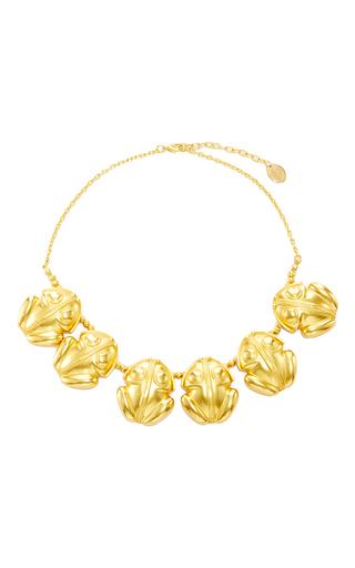 Medium mallarino gold froggy neckalce