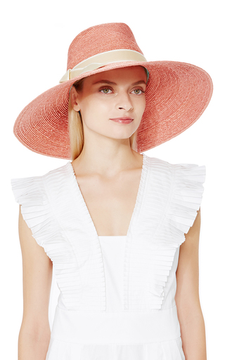 The Catherine Hat In Rose by LD CAREY Now Available on Moda Operandi