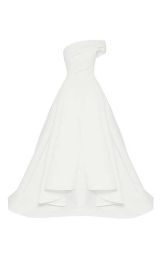 Medium maticevski white forever one shoulder gown