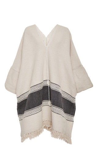 Medium lemlem light grey yohannes blanket poncho