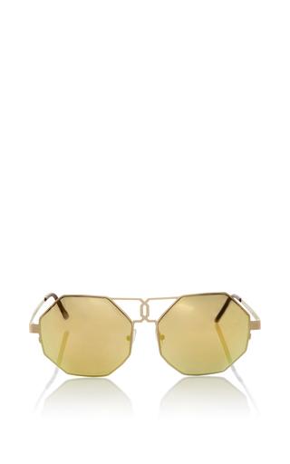 Medium quattrocento gold gonzo sunglasses