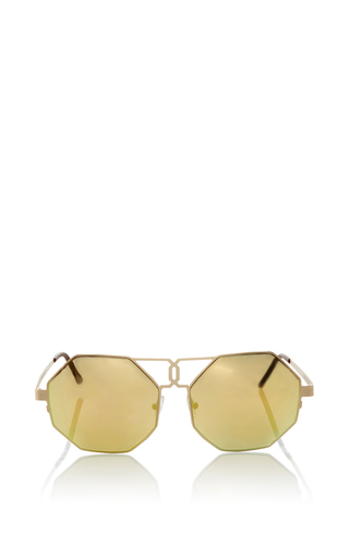 Medium quattrocento gold gonzo sunglasses