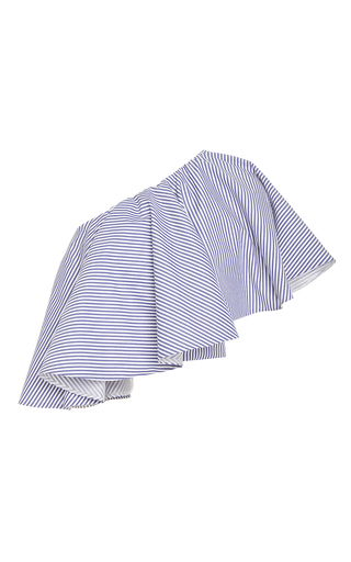 Medium viva aviva stripe yakura one shoulder menswear top
