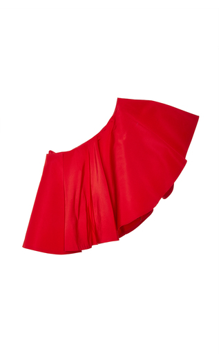 Medium viva aviva red yakura one shoulder silk top