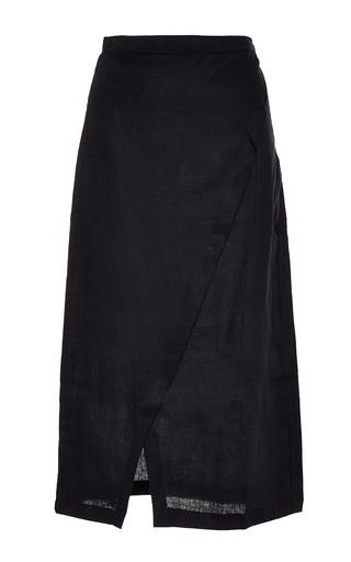 Medium sir the label black black brooke wrap skirt
