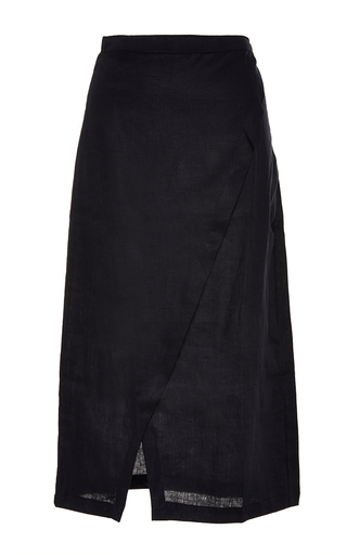 Medium sir the label black black brooke wrap skirt