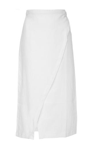 Medium sir the label white white brooke wrap skirt