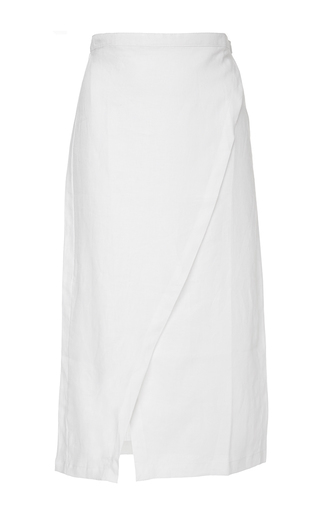 Medium sir the label white white brooke wrap skirt