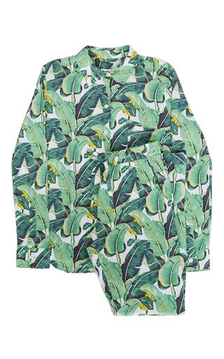 Medium masini chern print banana leaf pajama set