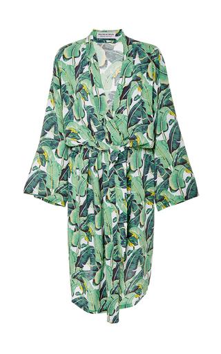 Medium masini chern print banana leaf robe