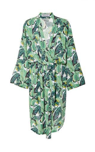 Medium masini chern print banana leaf robe