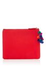 Red Shipibo Clutch by NANNACAY Now Available on Moda Operandi