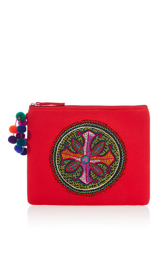 Medium nannacay red red shipibo clutch