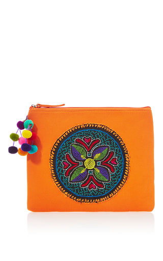 Medium nannacay orange orange shipibo clutch