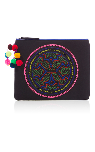 Medium nannacay black black shipibo clutch