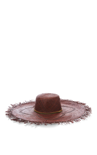Medium nannacay brown straw hat with frayed edge 2