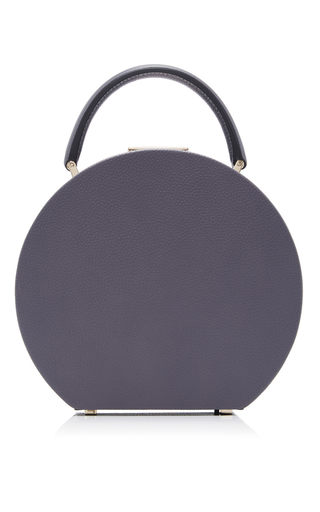 Medium bu wood dark grey calf leather heritage grey bumi 18 top handle bag
