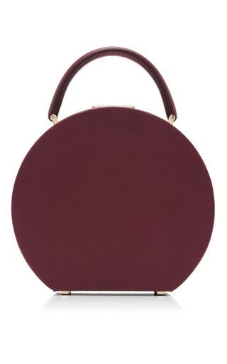 Medium bu wood burgundy calf leather tuscan wine bumi 18 top handle bag