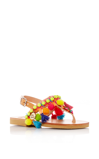 Medium elina linardaki multi children s macaw decorated sandal