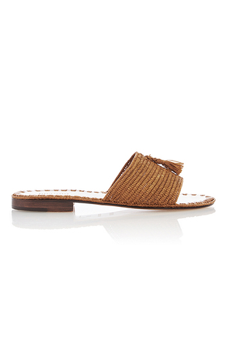Medium carrie forbes tan adam pom pom flats