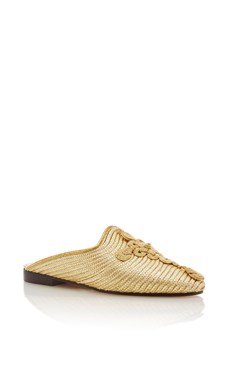 Medium carrie forbes gold safi flats