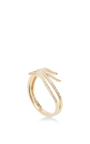 14 K Yellow Gold Diamond Double Wave Ring by EF COLLECTION Now Available on Moda Operandi