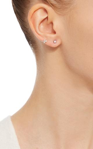 14 K White Gold Diamond Trio Ear Clip by EF COLLECTION Now Available on Moda Operandi