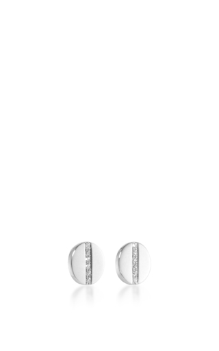 14 K White Gold Diamond Screw Stud Earrings by EF COLLECTION Now Available on Moda Operandi