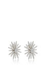 14 K White Gold Diamond Starburst Stud Earrings by EF COLLECTION Now Available on Moda Operandi