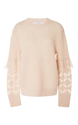 Medium tanya taylor light pink naomi fringe sweater
