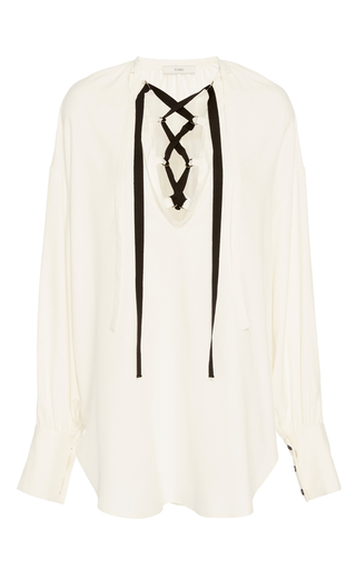 Long Sleeve Lace Up Top by TOME Now Available on Moda Operandi