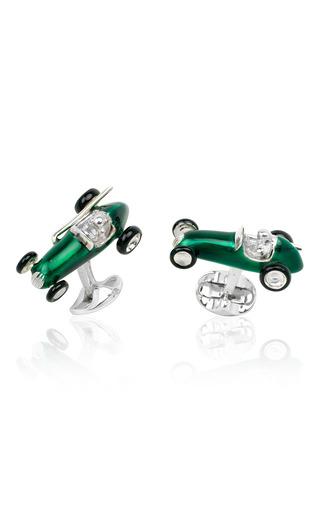 Medium deakin francis green race car cufflinks