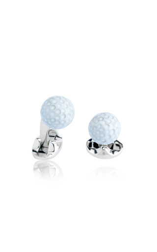 Medium deakin francis white tennis ball cuff links