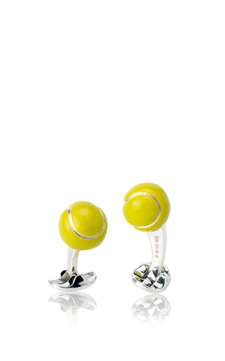 Medium deakin francis yellow tennis ball cuff links 2
