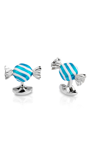 Medium deakin francis silver candy cuff links