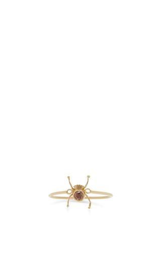 Medium daniela villegas multi 18k yellow gold diamond baby spider ring