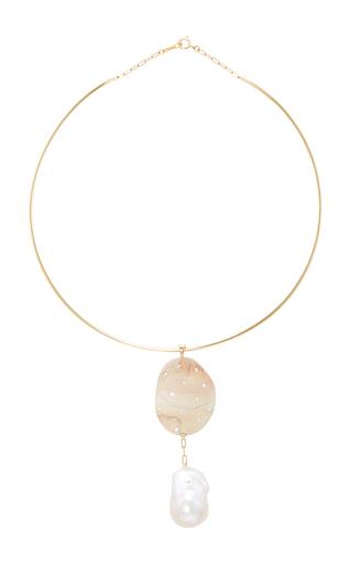 Medium cvc stones tan claudel rodin choker necklace